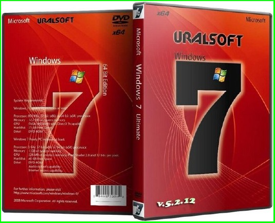 Скачать Windows 7 Максимальная SP1 x64 2012 UralSOFT v5.2.12 (RUS, Ultimate)
